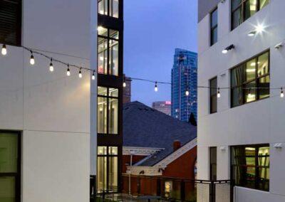 3rd Floor Courtyard at Night