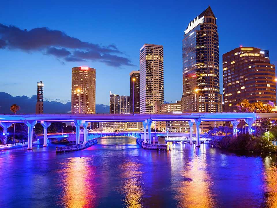 Tampa Florida Skyline at Night